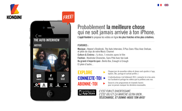 Promotion d'une application Iphone