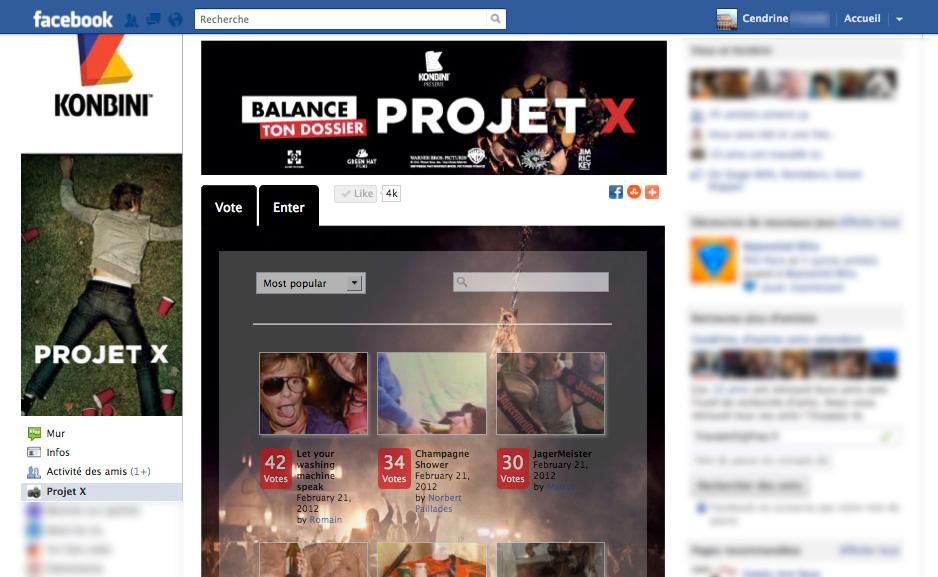 "Application Facebook  ""photo contest"""