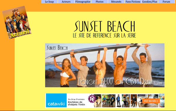 Sunset Beach : le site de référence